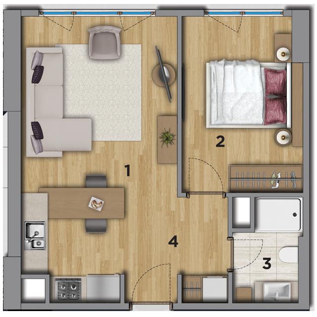 شقة 1+1 في مشروع رويال سترادا